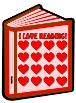 Valentine's Day We Love Reading Books Sticker Chart