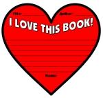 Valentine's Day I Love This Book Heart