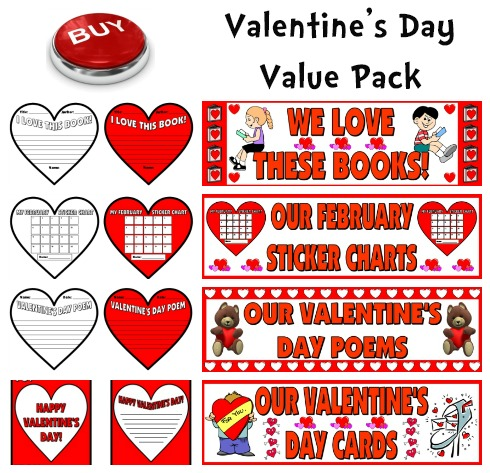 Valentine's Day Lesson Plans and Creative Writing Templates