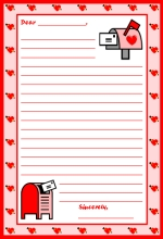 Valentine's Day Letter Printable Worksheet