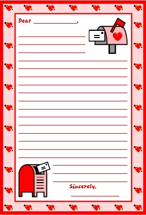 valentinesdayletterwritingworksheet Valentine S Letter Writing Template on valentine paper pattern, valentine stationery templates, valentine stationary to print, valentine party letter template,