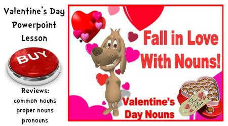 Valentine's Day Noun, Proper Noun, Pronoun Powerpoint Lesson