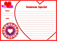 Valentine's Day Creative Writing Printable Worksheet