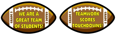 Football and Sports Classroom Decoration Ideas for Elementary Teachers