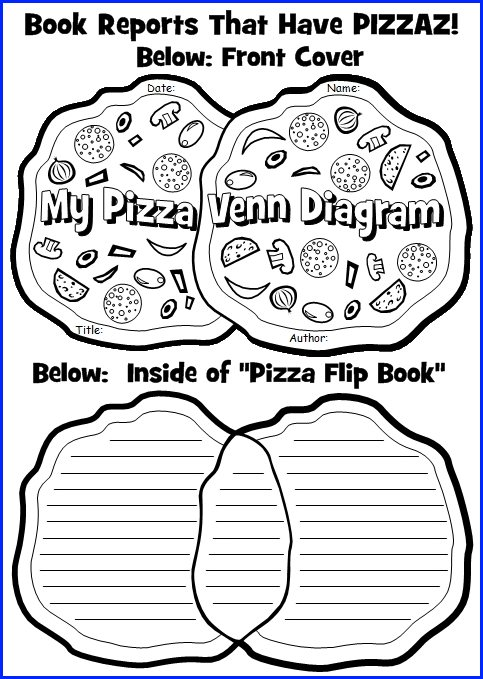 Venn Diagram Templates For Fun Pizza Book Report Projects