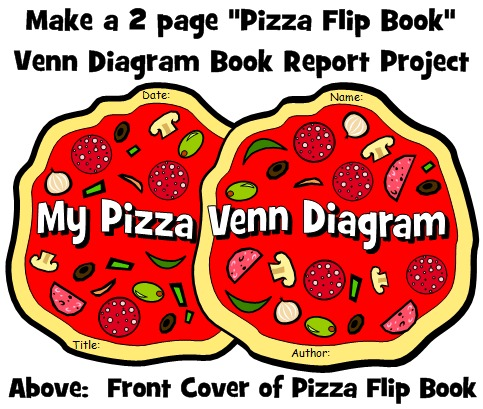 Pizza Venn Diagram Book Report Project Front Cover Template