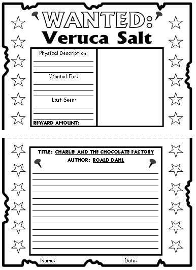 Charlie and the Chocolate Factory Wanted Posters Projects Veruca Salt Example