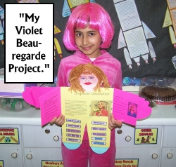 Violet Beauregarde Project Ideas and Examples from Charlie and the Chocolate Factory by Roald Dahl