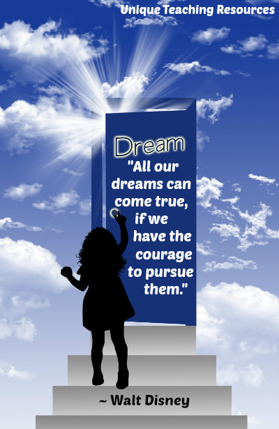 Walt Disney Inspirational Quote About Dreams
