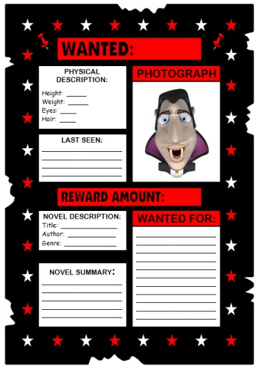 Fun Book Report Project Ideas for Elementary Students Wanted Poster Examples