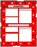 Wanted Poster Book Report Projects Red Templates