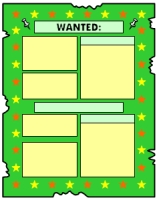 Wanted Poster Book Report Projects Green Templates