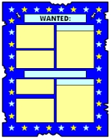 Wanted Poster Book Report Projects Blue Templates