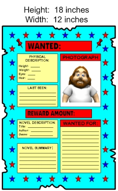 Large Wanted Poster Book Report Projects Template Measurements
