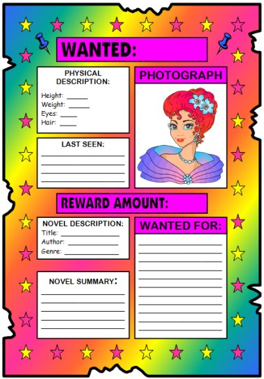 mystery book report wanted poster October book report mystery mystery have your child complete wanted poster book report form and return it to school by the october due date.