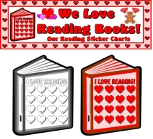 Valentine's Day Reading Sticker Charts