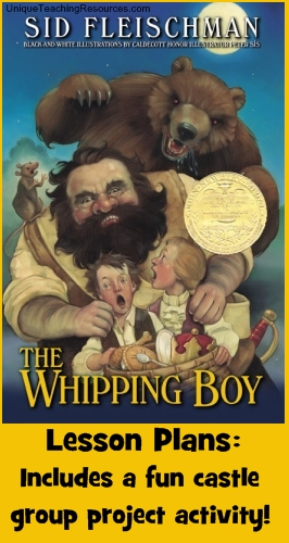 The Whipping Boy by Sid Fleischman Book Cover and Lesson Plans