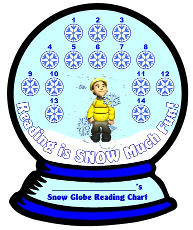 Reading Sticker and Incentive Chart Templates for Winter and Christmas