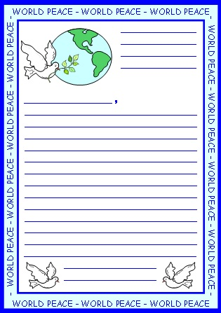 World Peace Letter to President Worksheets and Templates