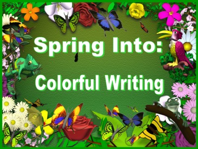 Writing Descriptive Sentences Spring Powerpoint Lesson Plans
