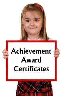 Achievement Award Certificates for Elementary School Students
