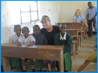 Heidi McDonald Teacher Visit to Serengeti School Tanzania
