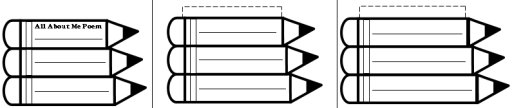 Pencil Writing Templates and Worksheets for All About Me Poem
