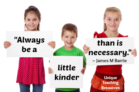Always be a little kinder than is necessary.  James M. Barrie Quote