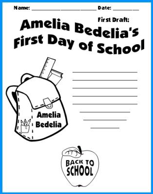 Amelia Bedelia Creative Writing Topic First Draft Worksheet