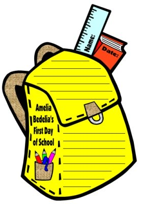 Amelia Bedelia's First Day of School Student Projects and Bookbag Templates Herman Parish