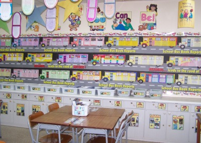 Amelia  Bedelia's First Day of School Herman Parish Bulletin Board Display Example and Ideas