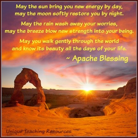 Apache Indian Blessing Inspirational Quote