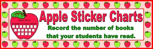 Apple Sticker Charts and Templates for Reading Books