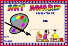 Art Awards and Certificates