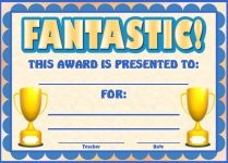 Fantastic Awards and Certificates