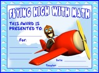 Flying High With Math Awards and Certificates