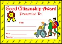 Good Citizenship Awards and Certificates