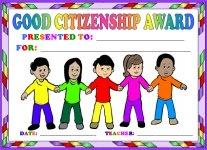 Good Citizenship Children Awards and Certificates