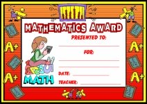Mathematics Awards and Certificates