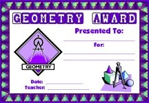 Math Geometry Awards and Certificates