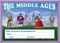 Middle Ages Social Studies Awards and Certificates
