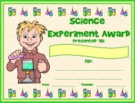 Science Experiment Awards and Certificates