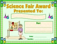 Science Fair Awards and Certificates