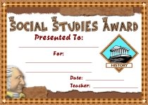 Social Studies Awards and Certificates