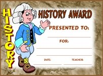 Social Studies History Awards and Certificates
