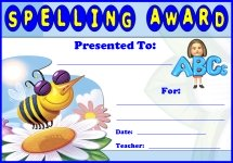 Spelling Awards and Certificates