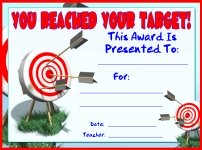 You Reached Your Target Student Awards and Certificates
