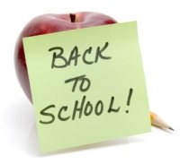 Back To School Apple and Pencil