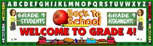Back To School Grade 4 Bulletin Board Display Banner