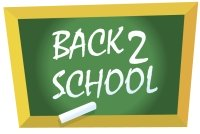 Back To School Chalkboard Graphic